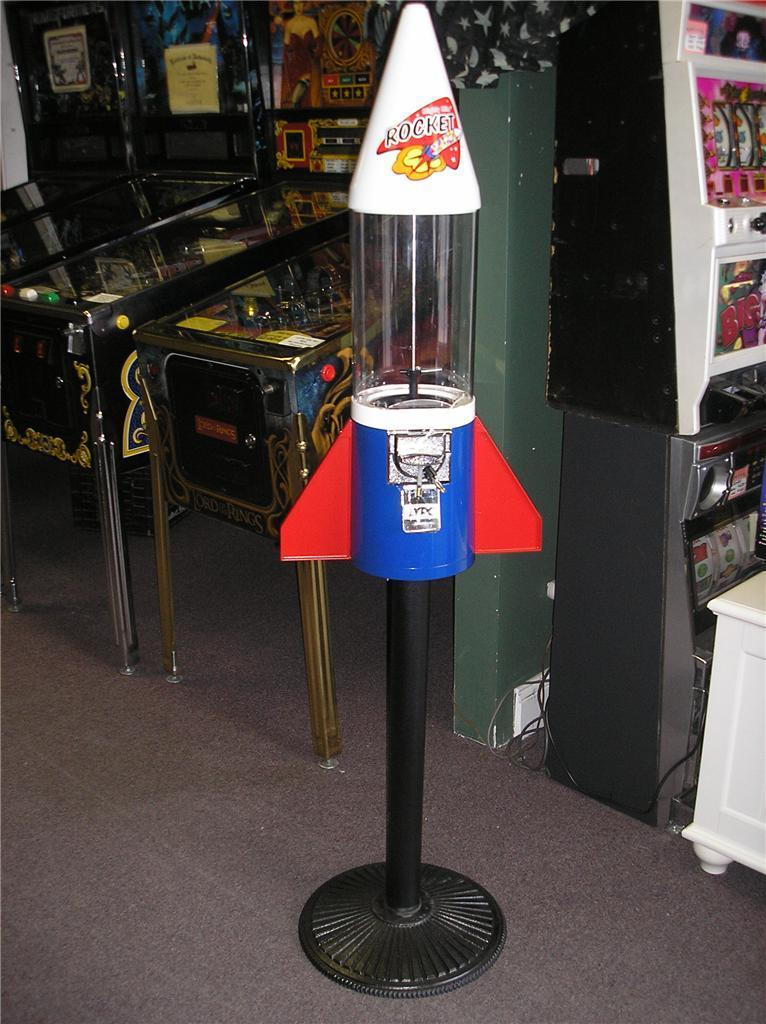 rocket gumball machine